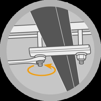 Befestigungsset Standard für AUTOHOME-Dachzelt